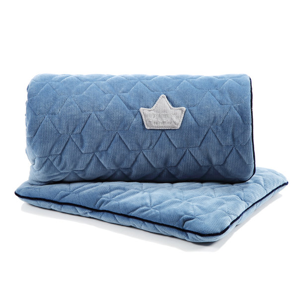 Blanket & Pillow Set Velvet Denim